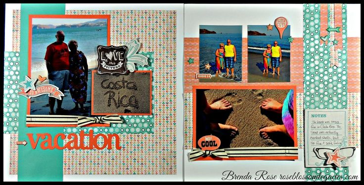 Rose Blossom Legacies: Cultivating Creativity Scrapbook Club - Vacation Layout