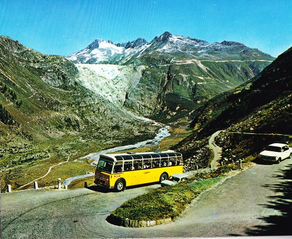 Switzerland+-+Furka+road+(Furkastrasse).+View+of+Rhone+Glacier+and+Galenstock+(3586m)+on+Open+Travel