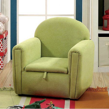 Ginny Contemporary Kids Chair, Green