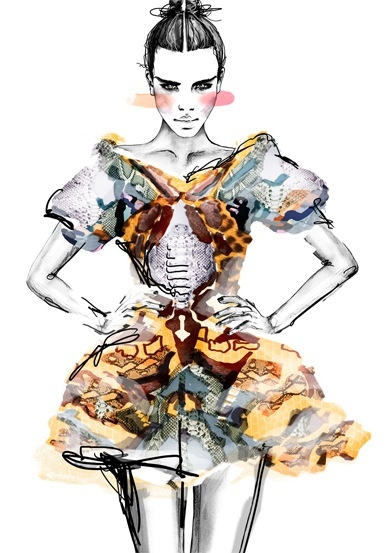 Fashion Illustration - prints, pattern & colour
