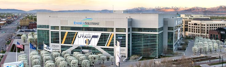Energy Solutions Arena - Home of the Utah Jazz, Salt Lake City, Utah  Click on the link for more information.