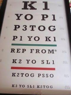 Coolness! Knitting eye chart.