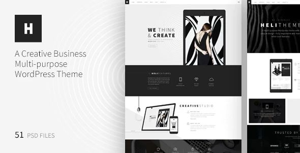 Heli – A Creative Multipurpose PSD Template by ThemeSun | ThemeForest