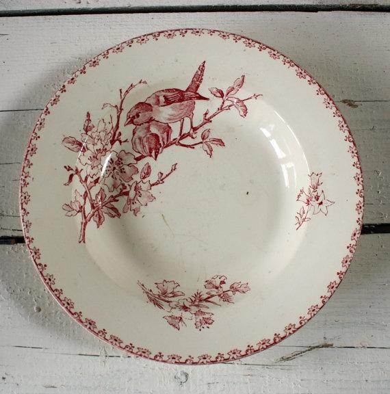 vintage soup plate