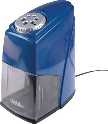 STAPLES® HEAVY DUTY 6-HOLE ELECTRIC PENCIL SHARPENER, BLUE (21833) | Staples  $38.99 plus od 20% off and get warranty
