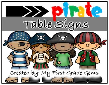 Label your classroom tables with these pirate themed signs!I have included 6 signs with each sign featuring a different pirate character or…
