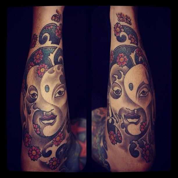 2008   #buddha #buddhas #waves #water #sakura #flowers #sakuraflower #colortatto…   – My Instagram Tattoo Feed