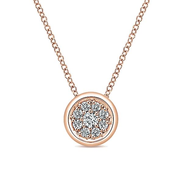 14k Pink Gold Diamond Fashion