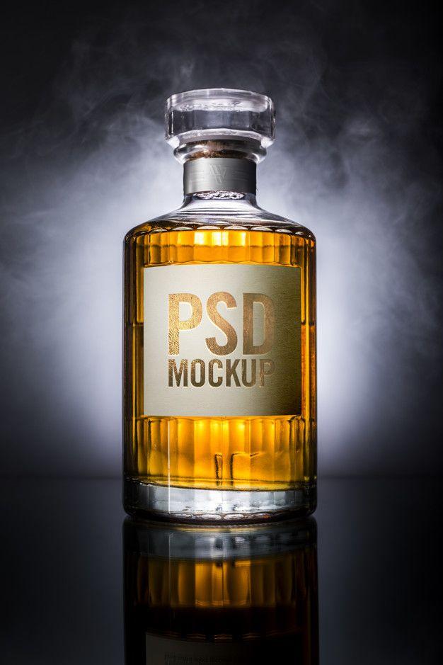 Whisky Bottle Mockup Label Whisky Bottle Whisky Bottle Mockup