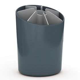 Joseph Joseph Segment Utensil Pot with Dividers Dark Grey and Grey