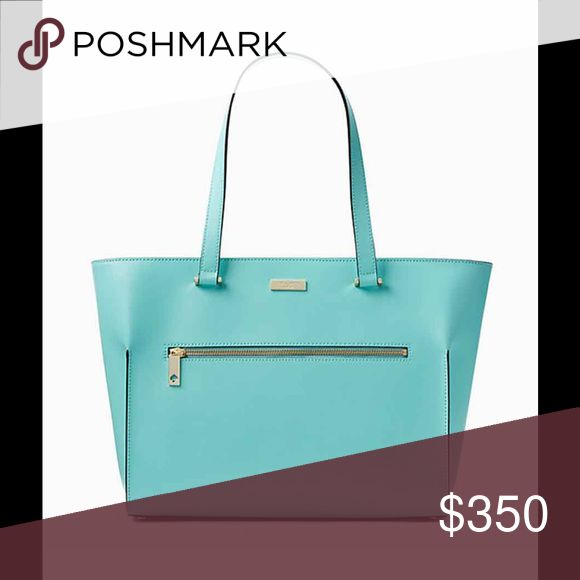 SOLD OUT!!!! Kate Spade Light Blue Tote NWT Parliament Square Smooth  Brantley