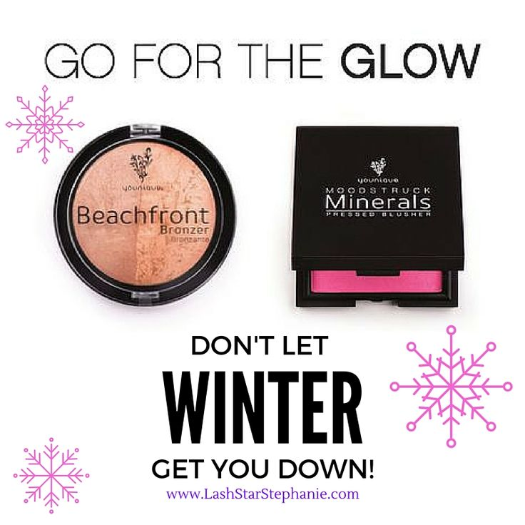 Winter got you feeling pale? Light up that face with Younique's Beachfront Bronzer and Mineral Blush! www.LashStarStephanie.com