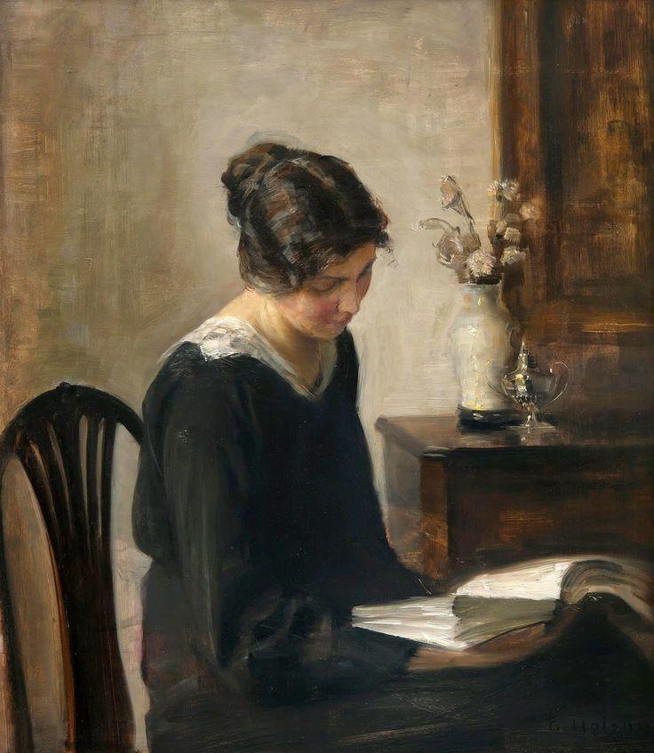 Carl Vilhelm Holsøe (Danish, 1863-1935). Lady in Black