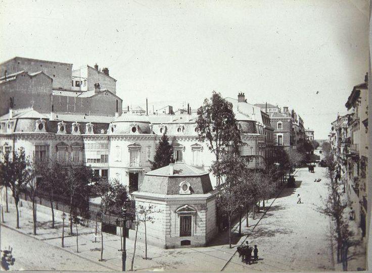 Antiguo palacete derruido. En su lugar ahora se encuentra la sede del PP de la calle Génova.