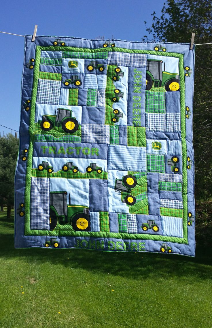 John Deer Quilt by CedarLakeSewing on Etsy, $50.00