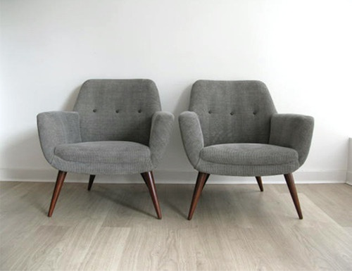 1950s retro pair heals lounge chairs armchairs for Matching lounge furniture