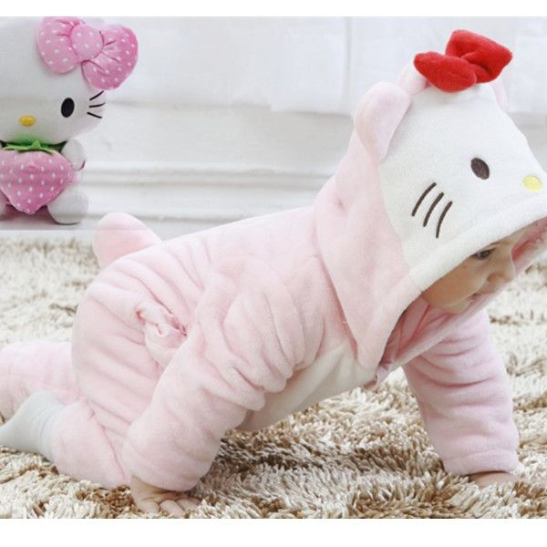 Hello Kitty Baby Girls Winter Cute Flannel Rompers- I'D DIE FOR MY BABY TO HAVES THIS X) #TooPerect