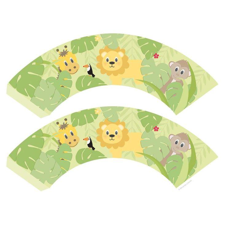 Digital, Printable Jungle Cupcake Wrappers | wowthankyou.co.uk