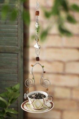 DIY Teacup Bird Feeder   Backyard Projects - Birds and Blooms