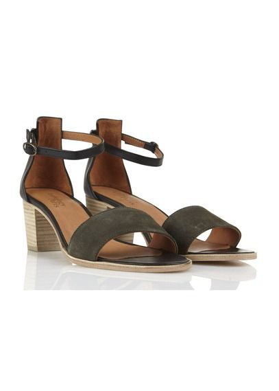 Sandales en cuir petit talon Valmy Noir by ANTHOLOGY PARIS