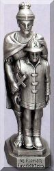 St Florian Pewter Figurine - Patron Saint of Firefighters