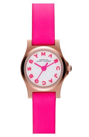 MARC BY MARC JACOBS 'Henry Dinky' Leather Strap Watch