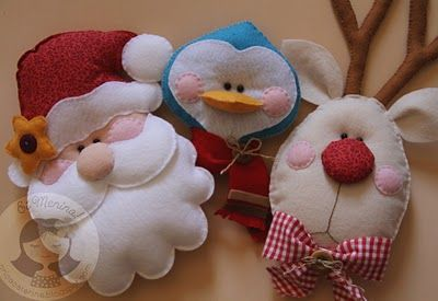 Felt Christmas ornaments...<3