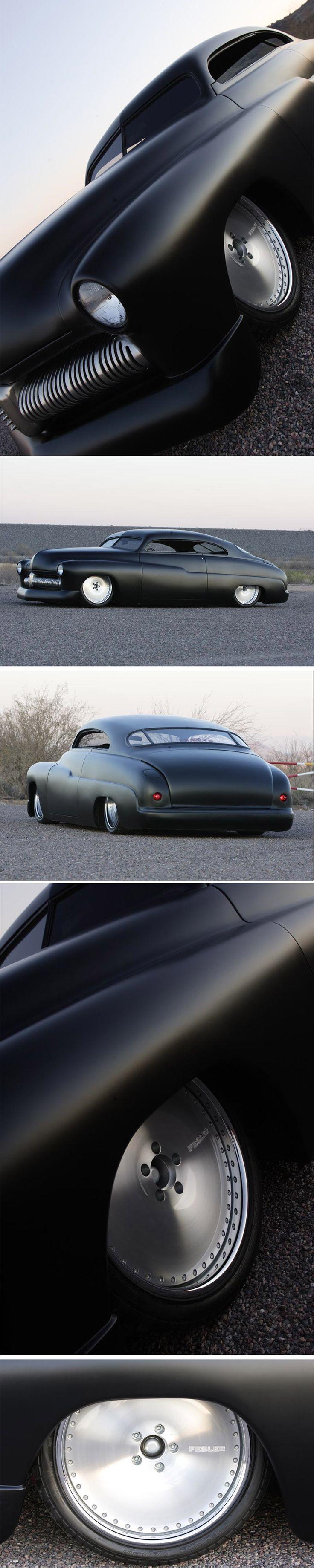 "phantom ride | 1949 Merc ""Led Sled"" 1 day a matte black hotrod"