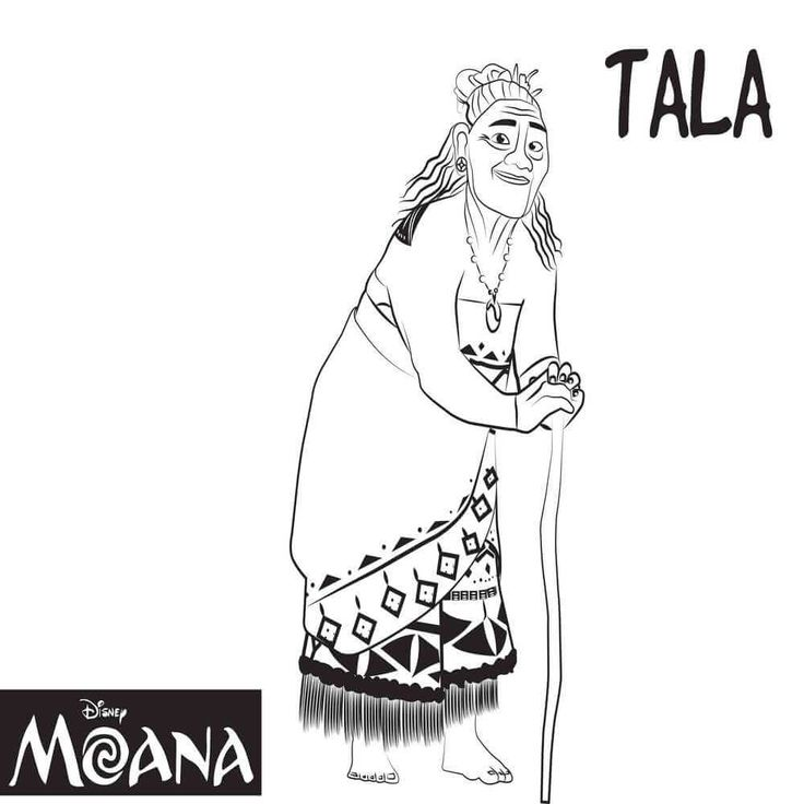 Top 10 Moana Coloring Pages Free
