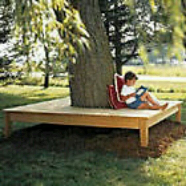 Simply square tree seat garden on a budget pinterest for Garden seating ideas on a budget