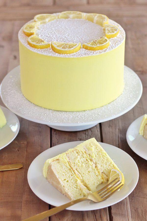 Lemon Bar Cake Recipe With Images Cake Recipes Lemon Cake