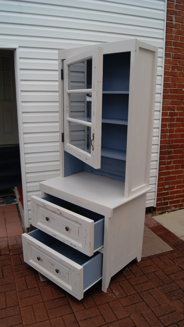 Salvaged Door Hutch - Turning a salvaged exterior  wood door into a hutch cupbard