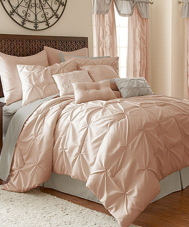 Loving this Blush Ella 24-Piece Comforter Set on #zulily! #zulilyfinds I've seen this same exact set on wayfair and groupon too.