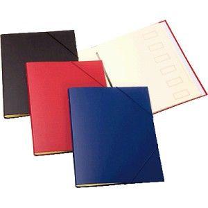 Carpeta clasificadora forrada en plástico de color Azul