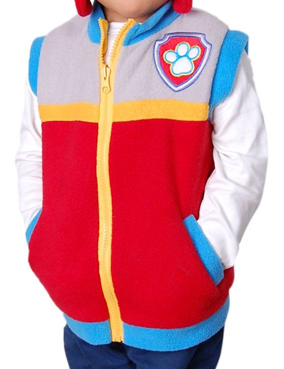 Paw Patrol Theme Party  Inspired Costume Ryder Vest  Unisex