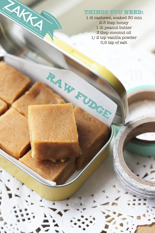 A simple and delicius Raw Fudge recipe - ZAKKA sweet design (issue no 5) • raw food, raw sweets, vegan, paleo, dairy free and processed sugar free