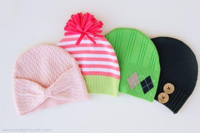 Hats...so freakin' cute #howto: Kids Hats, Sweaters Hats, Old Sweaters, Cute Hats, Baby Knits, Baby Hats, Recycled Sweaters, Knits Hats, Winter Hats