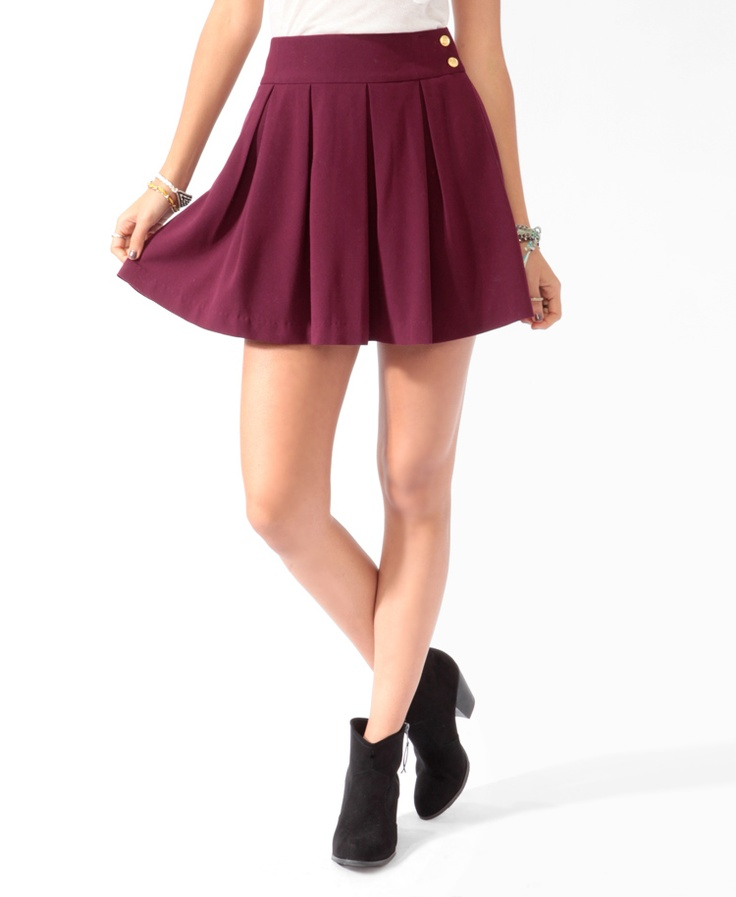 Pleated Nautical Skirt | FOREVER21 - 2000022876