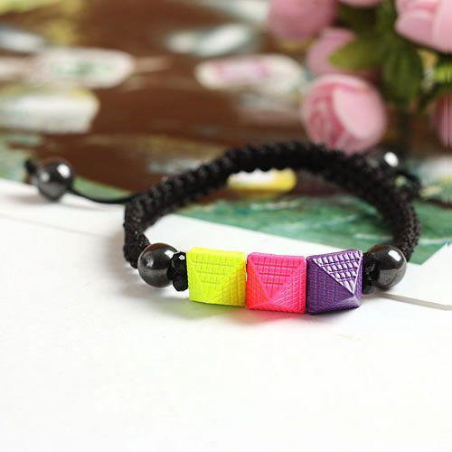 Zinklegierung Shamballa Armband, mit Nylonschnur & Hämatit, Spritzlackierung, einstellbar, keine, frei von Nickel, Blei & Kadmium, 11mm, verkauft per ca. 6.5 Inch1 Strang - perlinshop.com