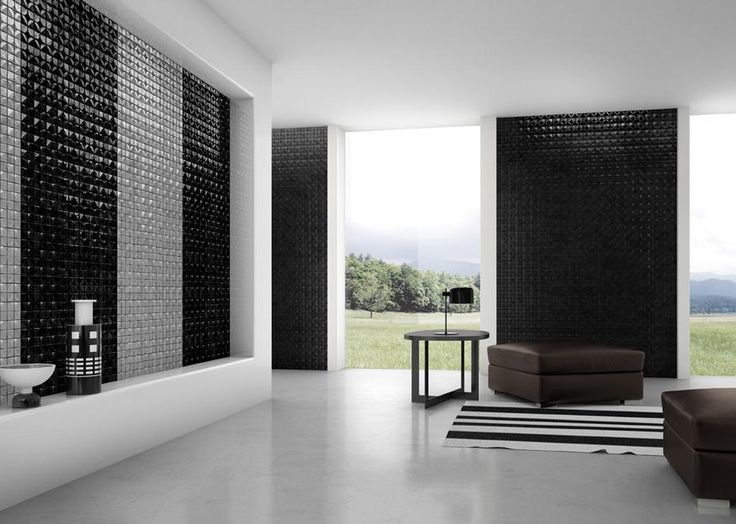 Mosaico+ Crono Collection - Nova Nero and Nova Grigio  #mosaicopiu #mosaic #mosaico #black #grey #grigio #nero #giugiaro #design #living #livingroom #salotto #greenproduct #ecofriendly