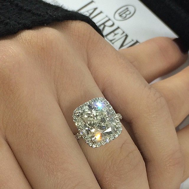 XL sizes available. 7 carat #cushioncut in #micropave setting #Padgram