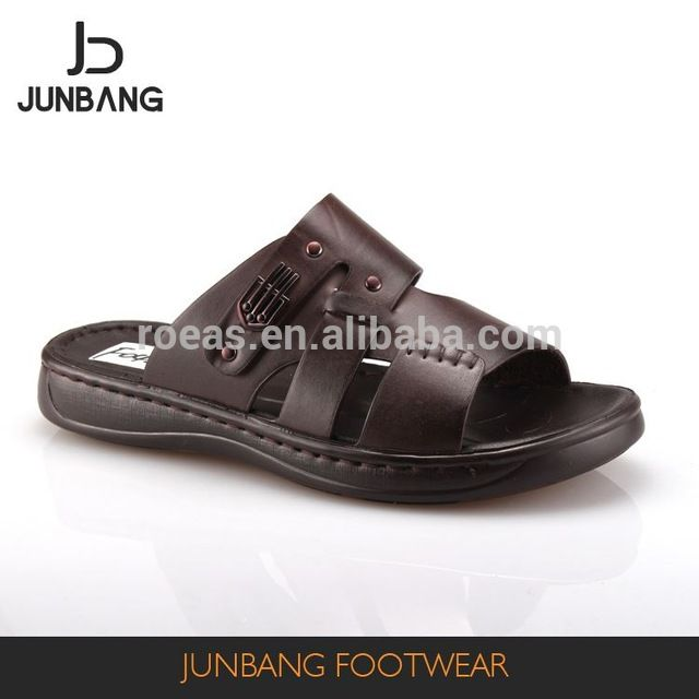 9882405b3 Source New selling simple design brown men footwear designs Arabic style  slippers on m.alibaba.com