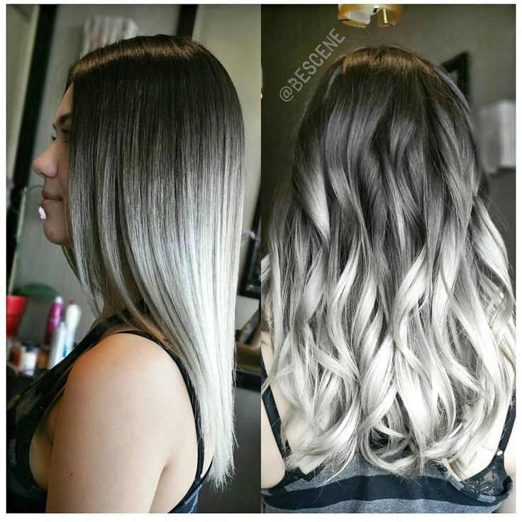 Maybe a lighter grey, but balayage ombre to platinum.