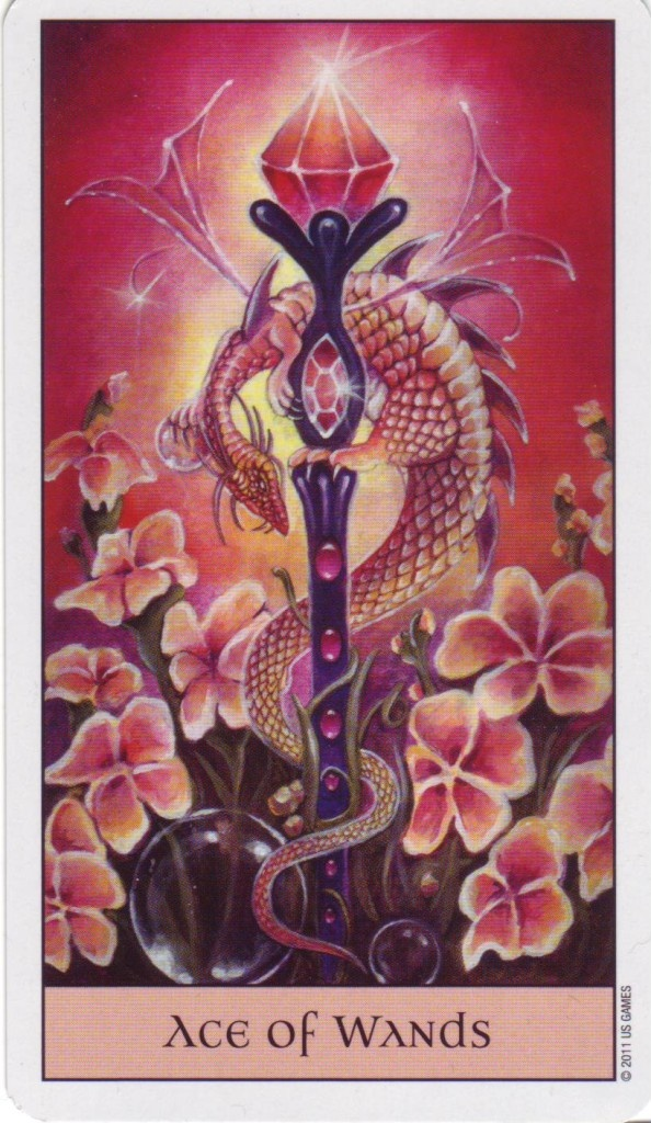 Ace of Wands - Crystal Visions Tarot