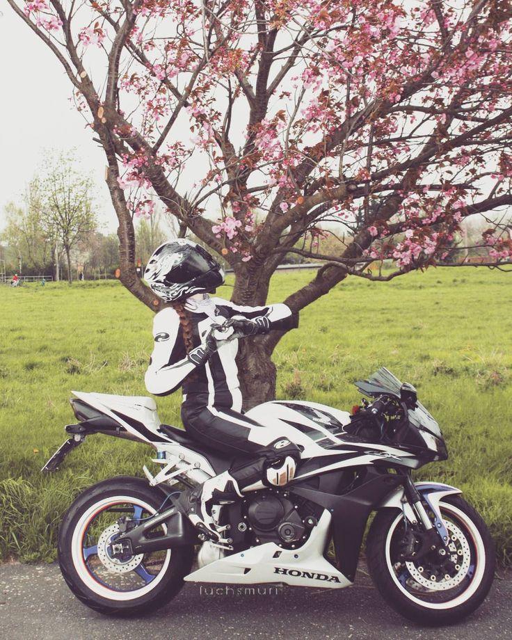 Honda Motor Company, Honda CBR series, #Motorcycle #Tagged #Image #MotorVehicle Wheel, Woman - Follow @extremegentleman for more pics like this!