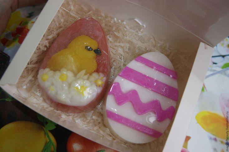 Купить ПАСХАЛЬНЫЙ НАБОР МЫЛА (цыплёнок в цветах),сувенирное - ярко-красный, яйцо, яйцо пасхальное