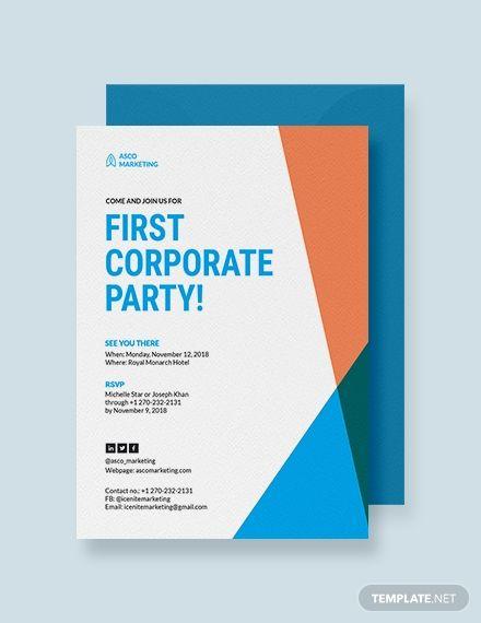 Corporate Party Invitation Corporate invitation Event invitation design Business invitation