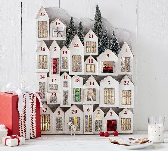 Amazing Gliter Lit Houses Advent Calendar Potterybarn Christmas Download Free Architecture Designs Scobabritishbridgeorg