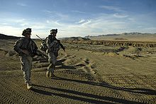 Soldiers from the 3rd Squadron, 1st Cavalry Regiment, 3rd Heavy Brigade Combat Team of the 3rd Infantry training at Fort Irwin.