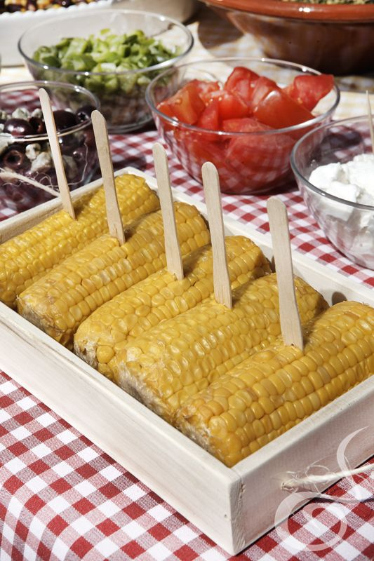 Fresh Corn just for you by #ARIAFineCatering!!
